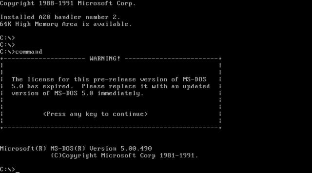 Risultati immagini per MS-DOS
