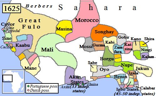 La région ver 1625