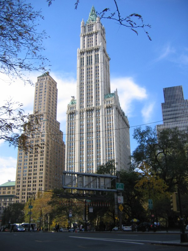 In York City Woolworth Building Places Boomsbeat
