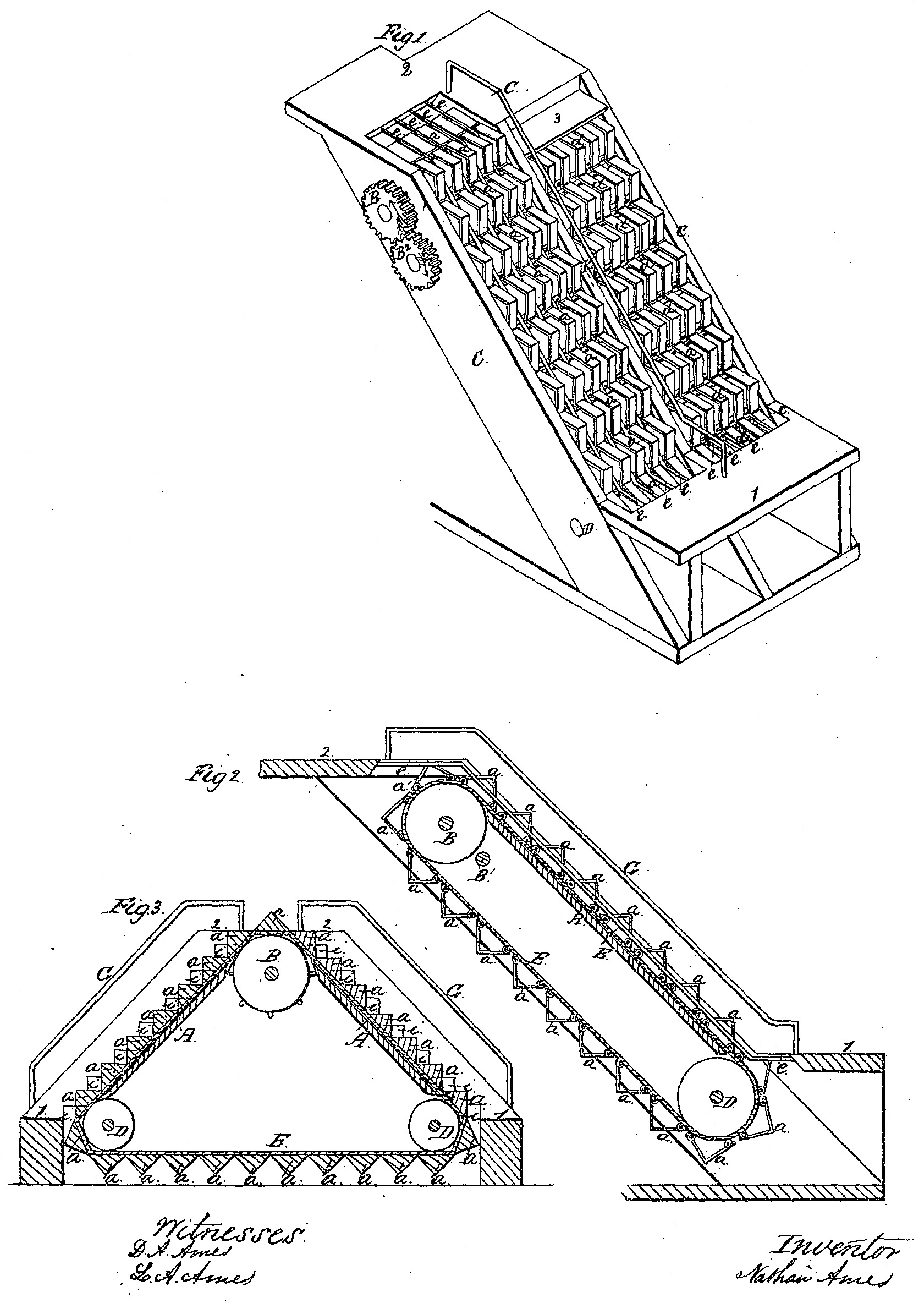 File Illustration Of Revolving Stairs U S Patent 25 076