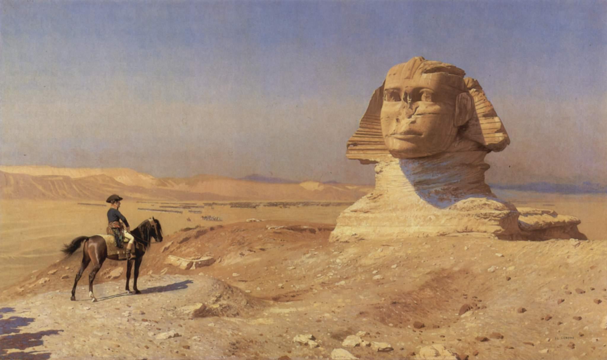 Napoleon Bonaparte Before the Sphinx, (ca. 1868) by Jean-Léon Gérôme, Hearst Castle.