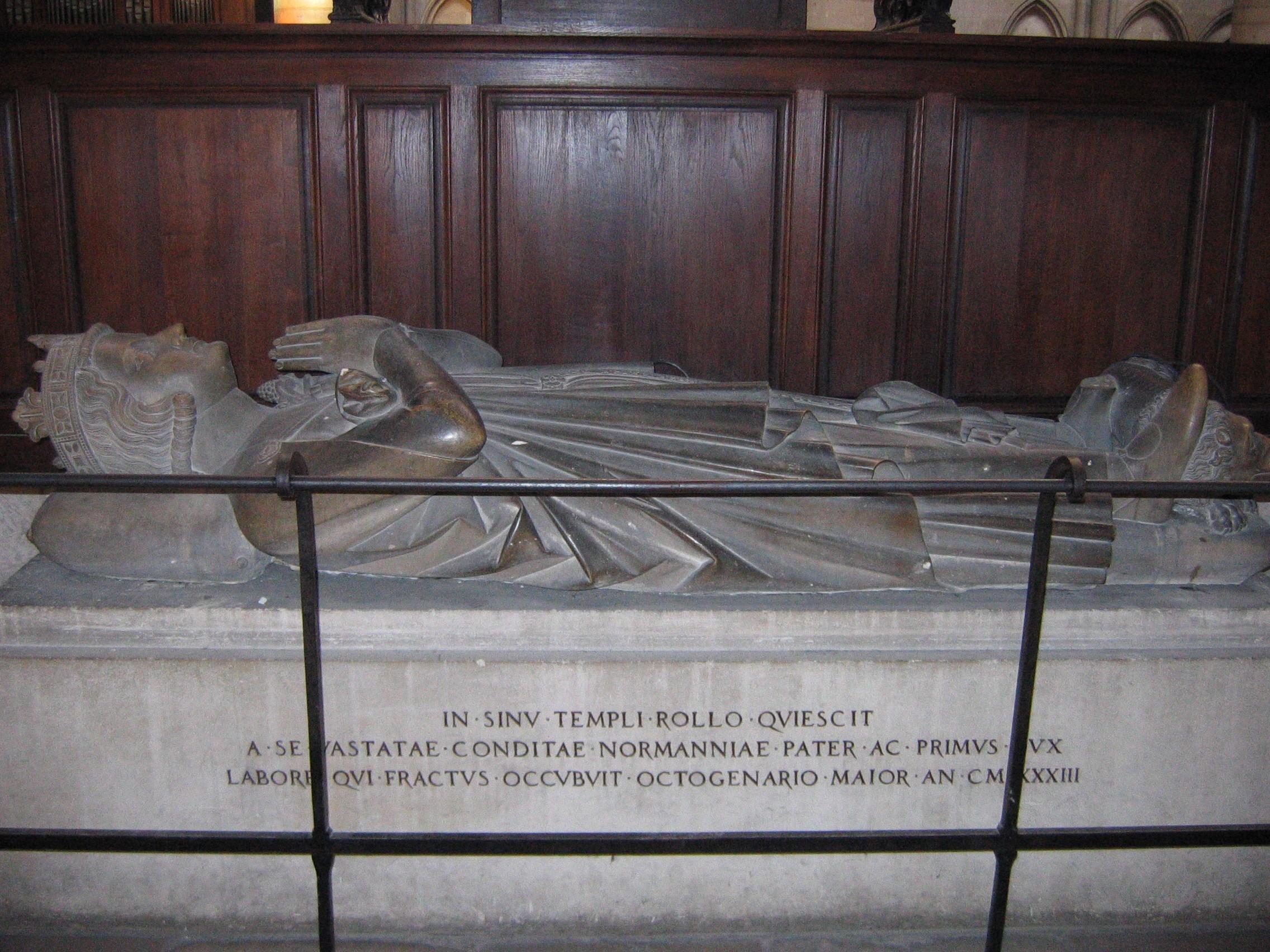 Rollos Grab in der Kathedrale von Rouen, Foto von Wikimedia Benutzer Urban, GFD Lizenz