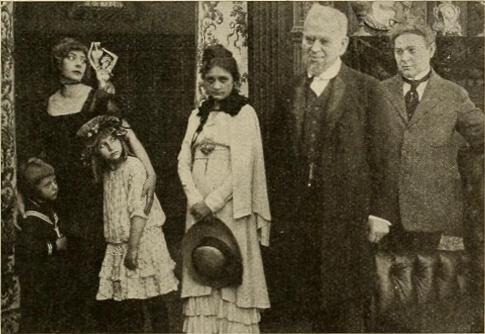 English: Still shot from 1914 silent film, Sho...