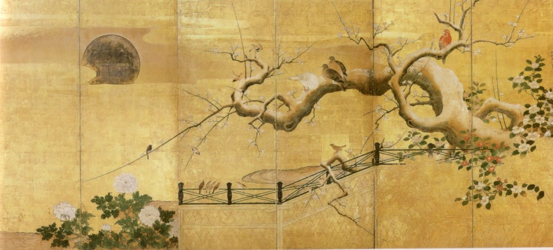 %27Birds and Flowers 1%2C one of two six panel screens by Kano Koi%2C 17th century Japan%2C Honolulu Academy of Arts Nature Wallpaper Iphone