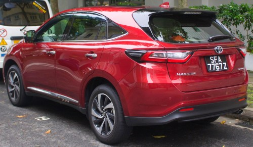 small resolution of facelift toyota harrier