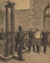 English: Auguste Vaillants execution.