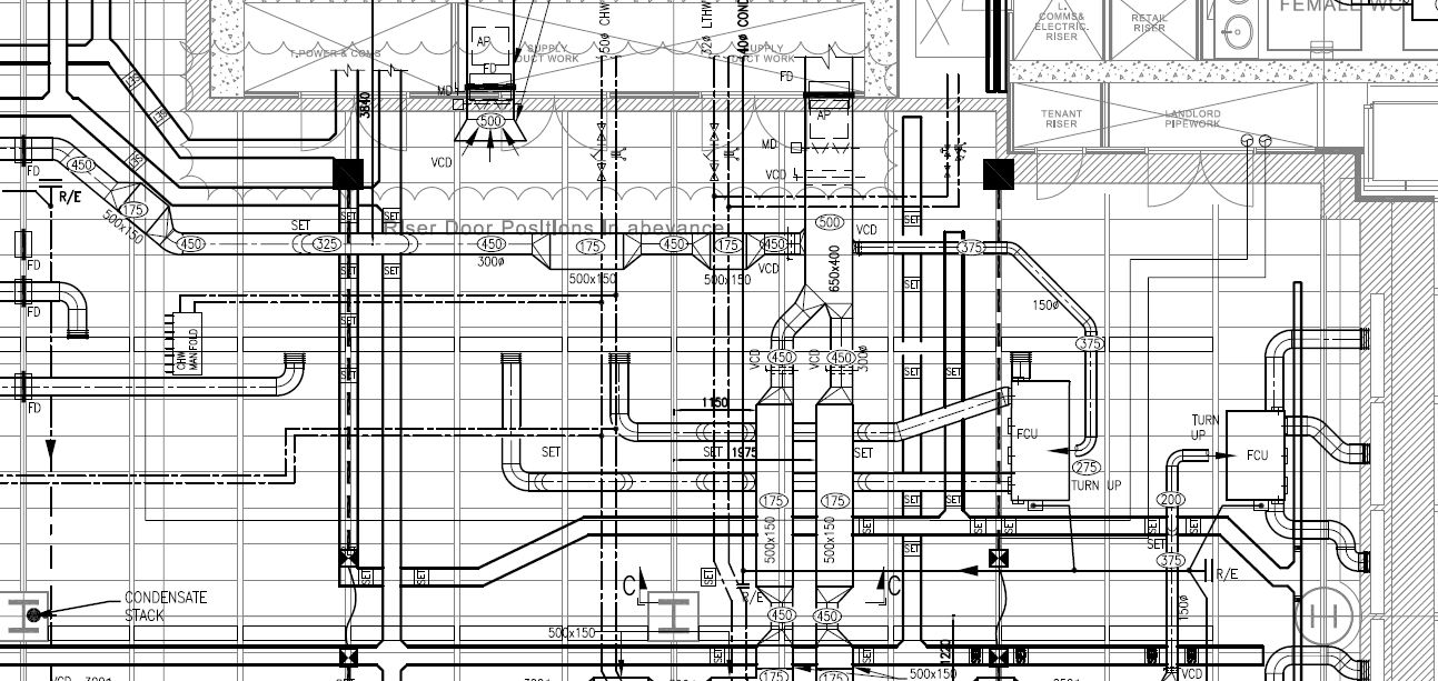 hight resolution of mechanical systems drawing