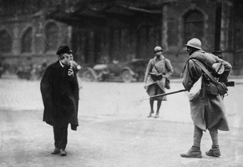 French soldiers in the Ruhr in 1923.