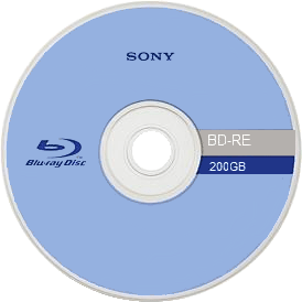 Front side of a 200GB Blu-ray Disc
