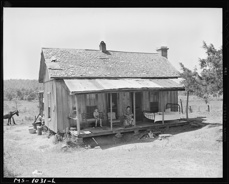 FileFarmhouse of Luther Nixon miner Le Flore County
