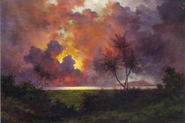 File Jules Tavernier - 'sunrise Over Diamond Head' Oil