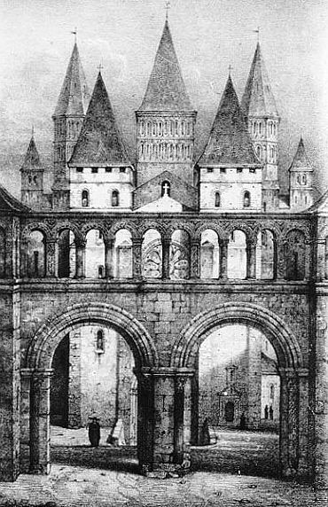 The Monastery of Cluny, France - Entrance to the Abbey.