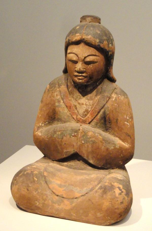 File Female Shinto Deity 12th Century Japan Wood With