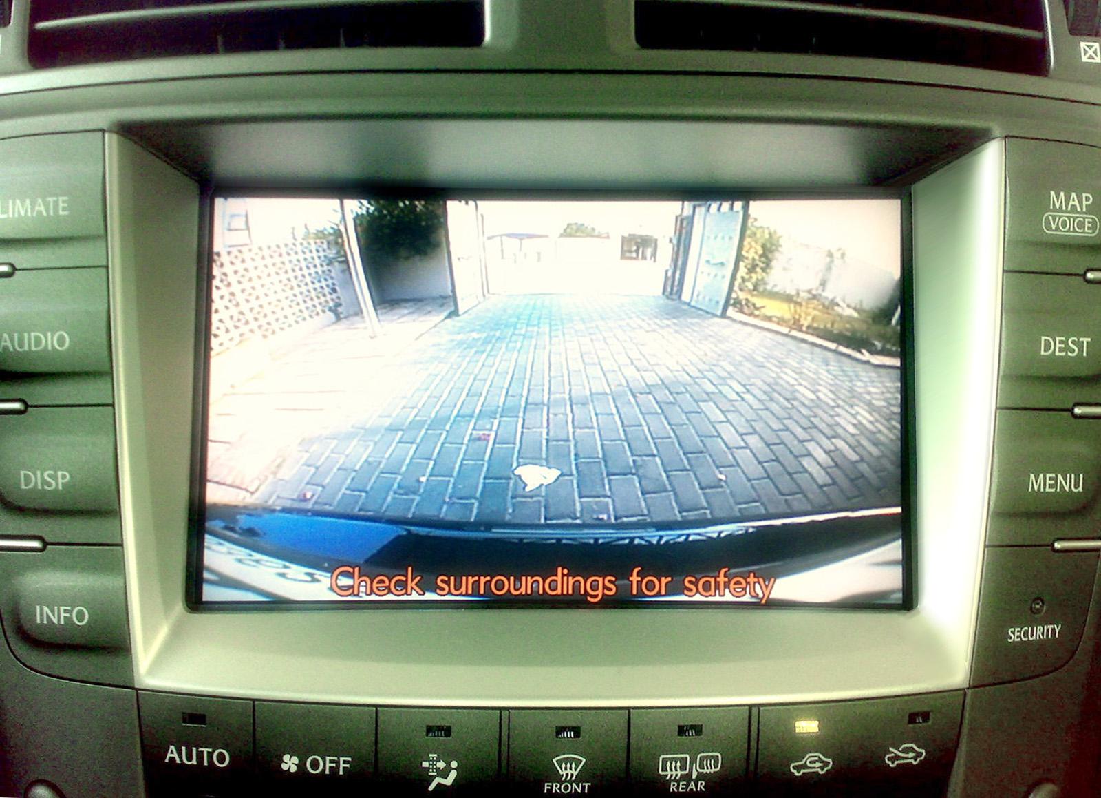 hight resolution of backup camera