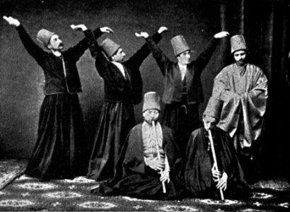 Mevlevi dervishes. 1887.