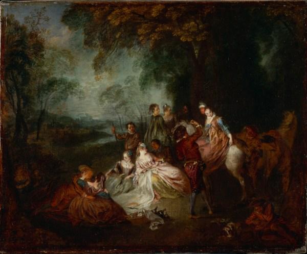 Antoine Watteau Rococo Paintings