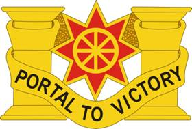 English: 10th Transportation Battalion DUI