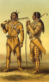 English: Gwich'in Hunters at Fort Yukon 1847 G...