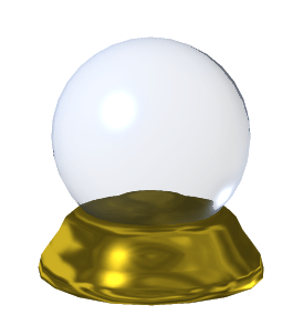 English: A Crystal Ball I created in 3D. Suppo...