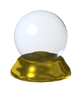 A Crystal Ball I created in 3D. Supports trans...