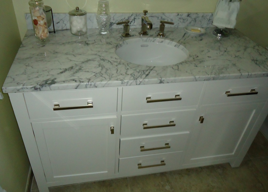 Bathroom vanity cabinet including sink and drawers White Kitchen Sink Faucet