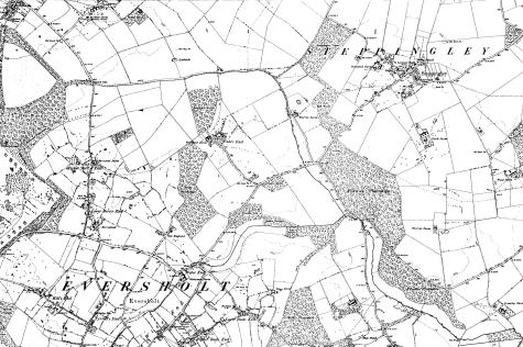 File:Map of Bedfordshire OS Map name 025-NW, Ordnance Survey, 1885