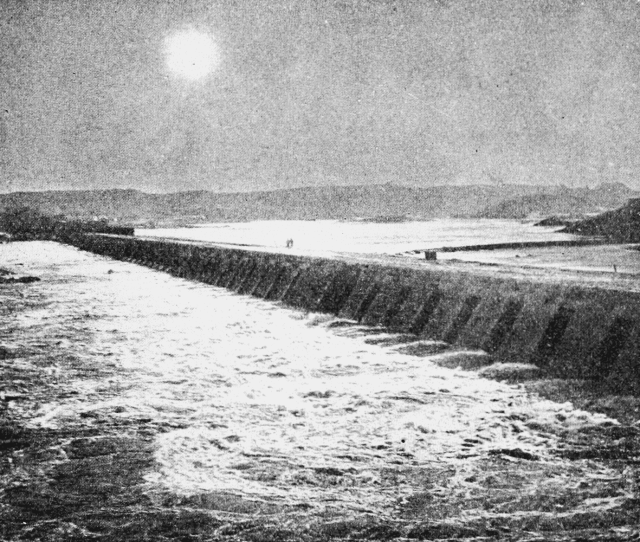 Psm V62 D565 Aswan Dam During Eclipse Of November 11 1901 Png