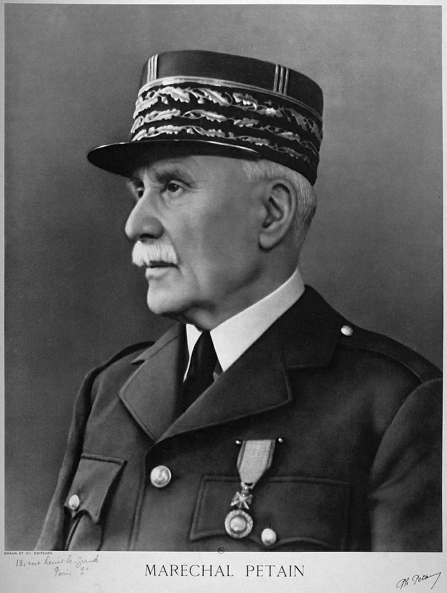 Phillipe Petain, head of Vichy France