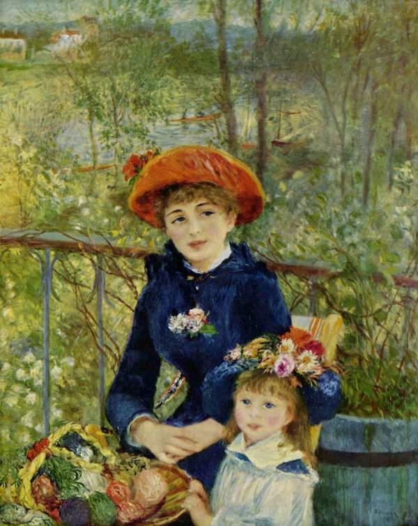 Two Sisters Painting by Renoir