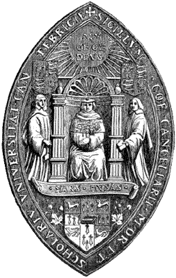 Seal of Cambridge University Caption : SEAL OF...