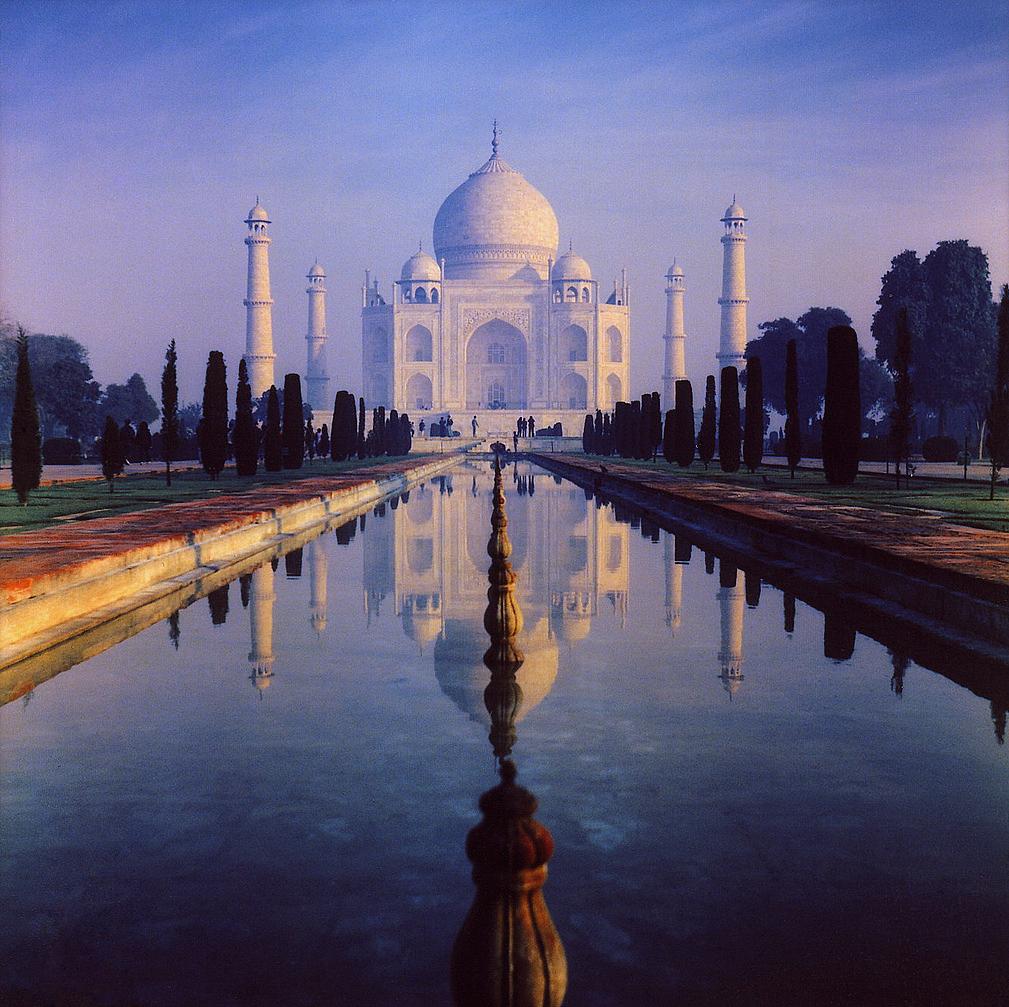 The Taj Mahal in Agra, India built by the Mughal emperor Shah Jahan.