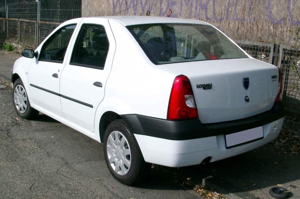 medium resolution of dacia logan pre facelift rear view