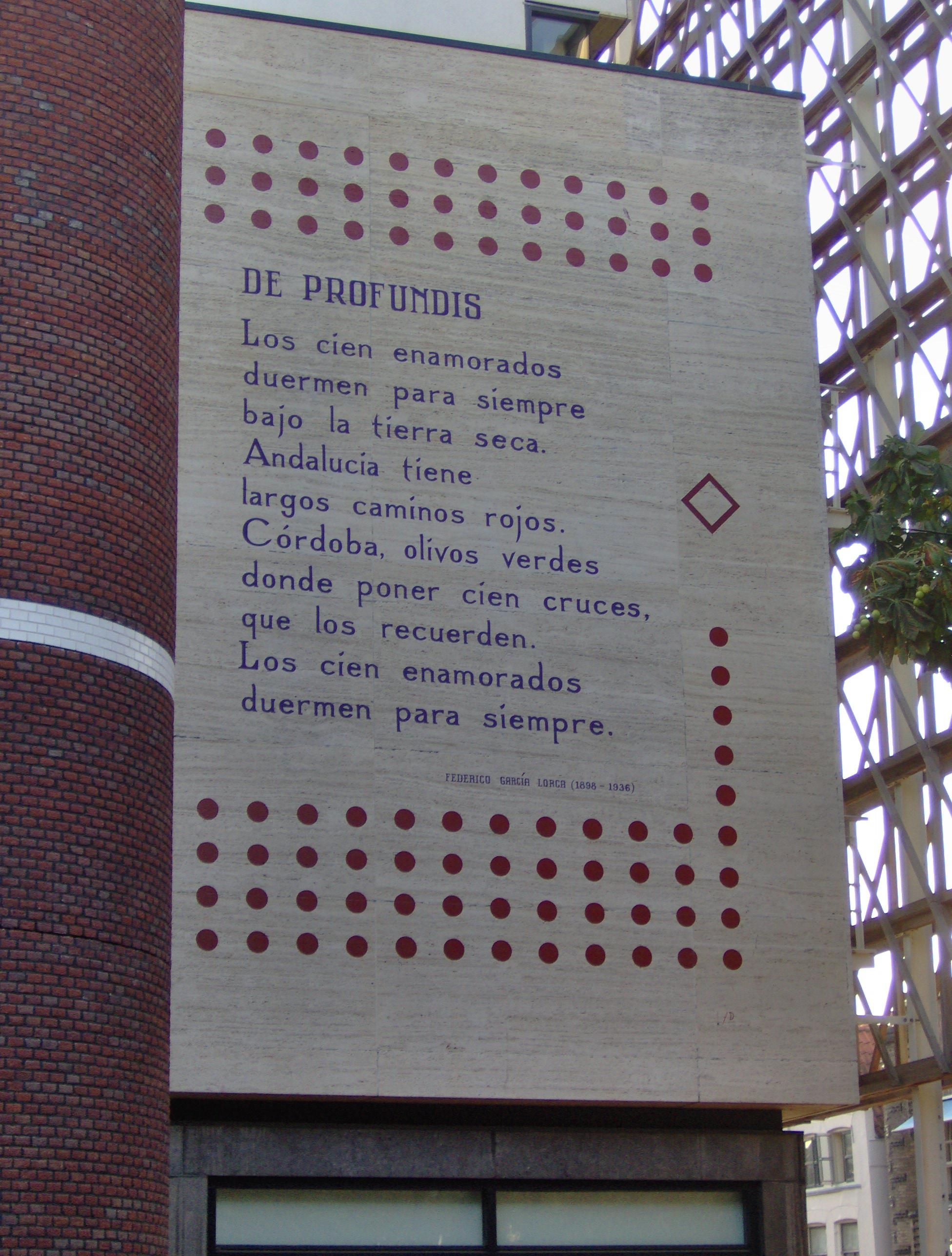 Federico Garcia Lorca Poèmes En Français : federico, garcia, lorca, poèmes, français, File:Federico, Garcia, Lorca, Profundis, Langebrug,, Leiden.JPG, Wikimedia, Commons