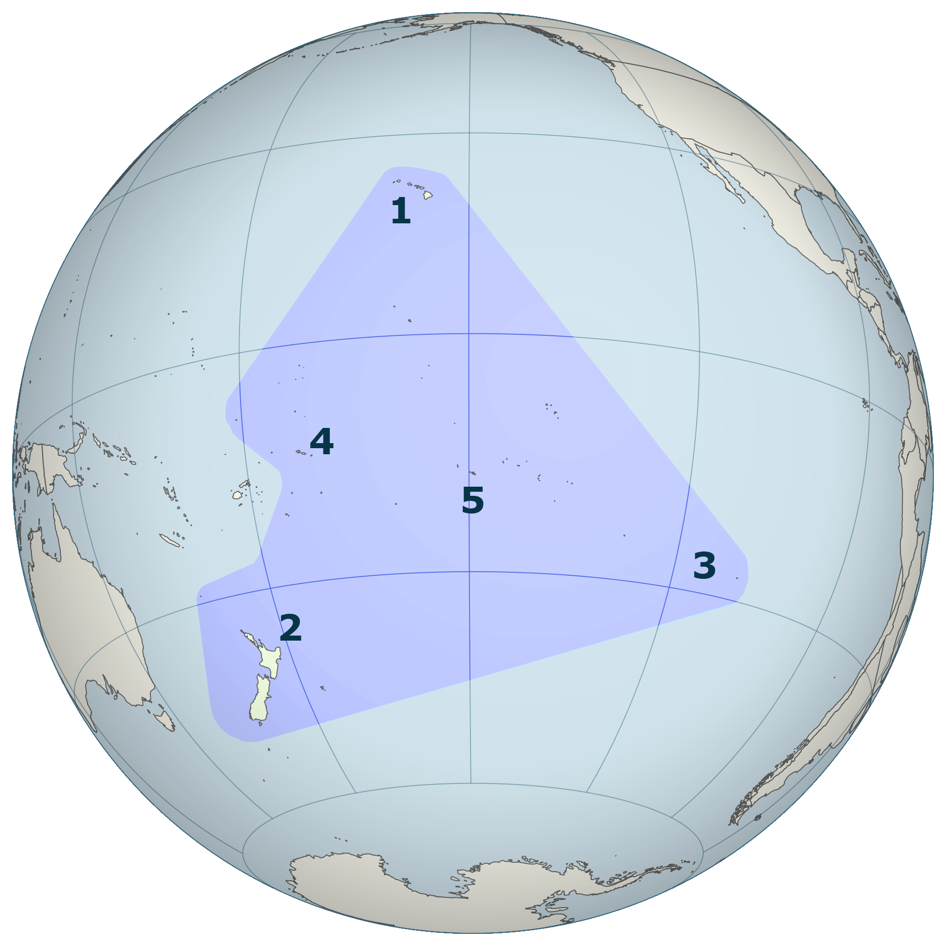 Pacific Basin -  Polynesian Triangle