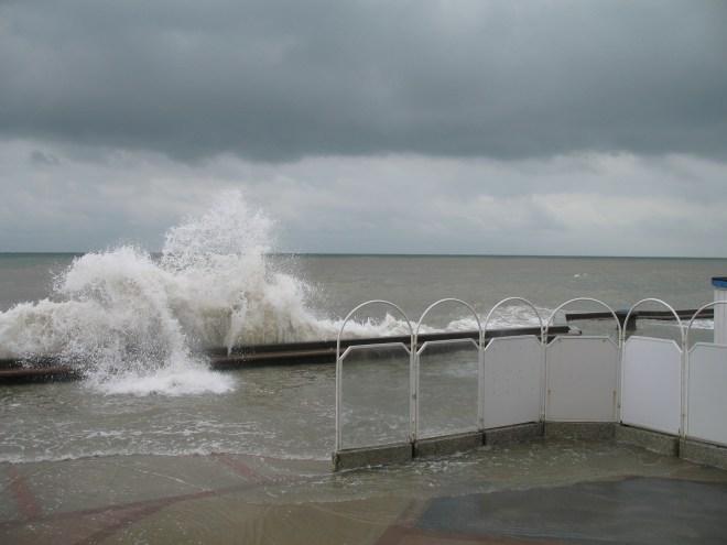 Grande marée à Wimereux