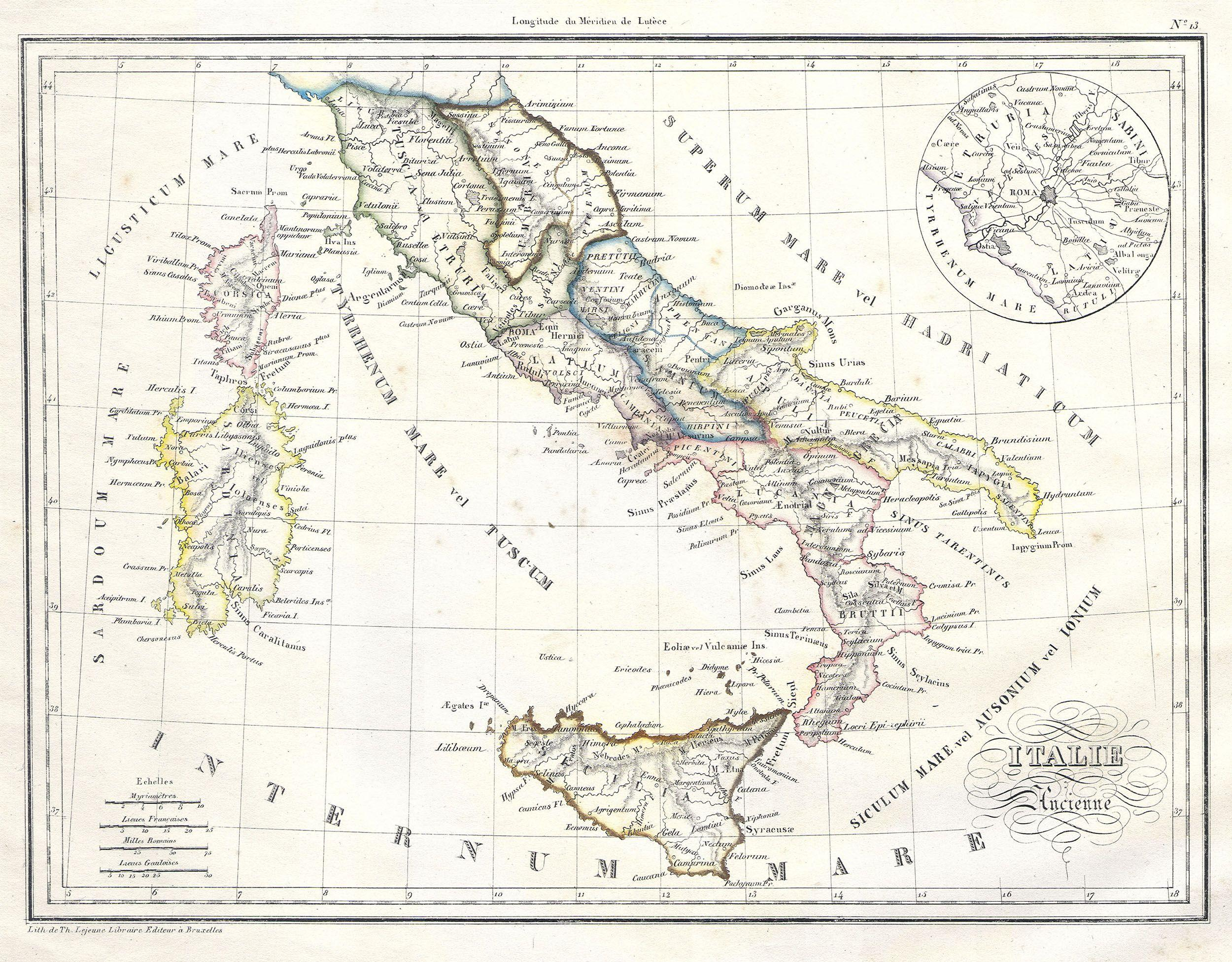 Ancient Italy Geography Worksheet