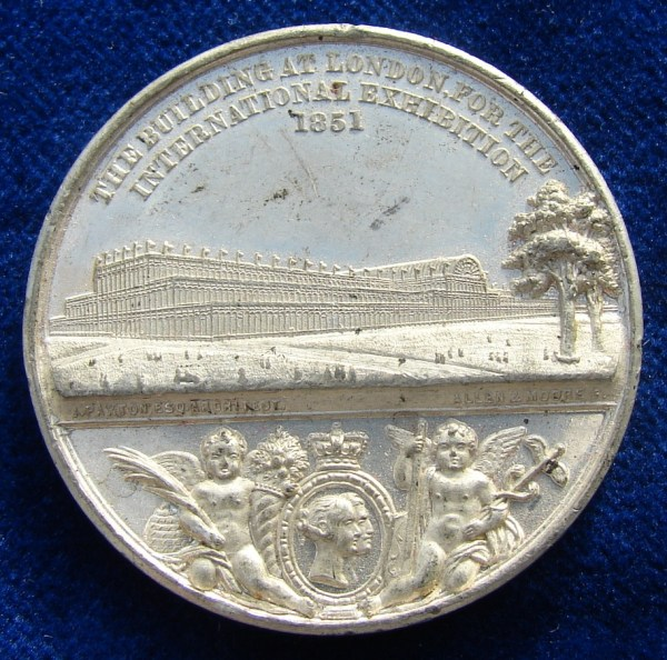 File 1851 Medal Crystal Palace World Expo London Obverse