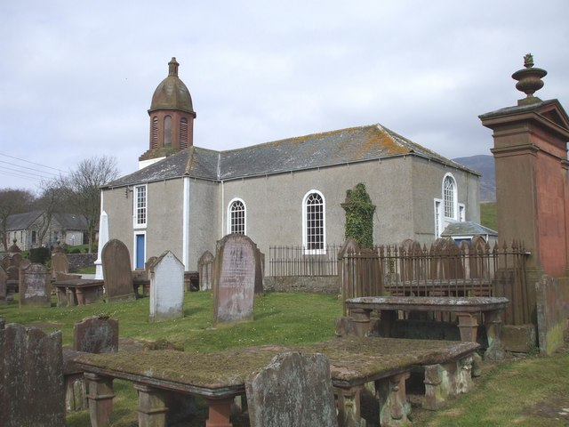 English: Kirkbean parish church