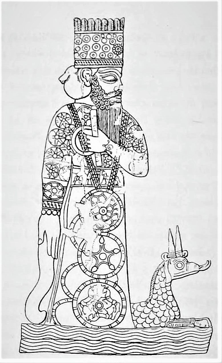 The god Marduk and his animal attribute, the dragon-serpent