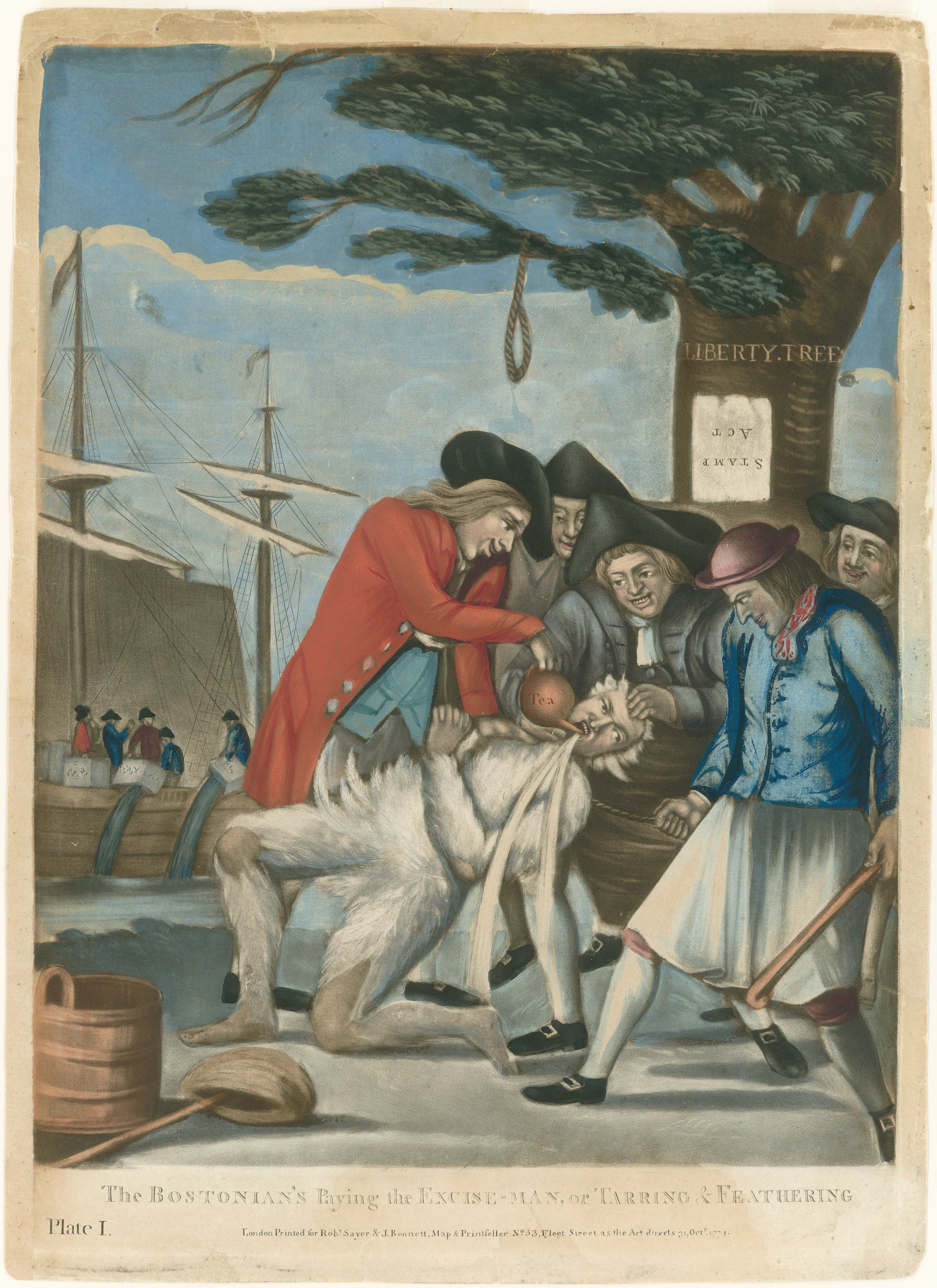The Bostonians Paying the Excise-man, or Tarri...