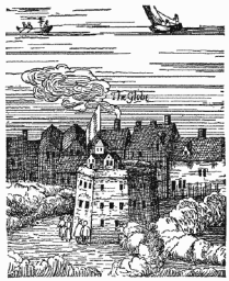 The Rose, from Visscher's View of London (1616)