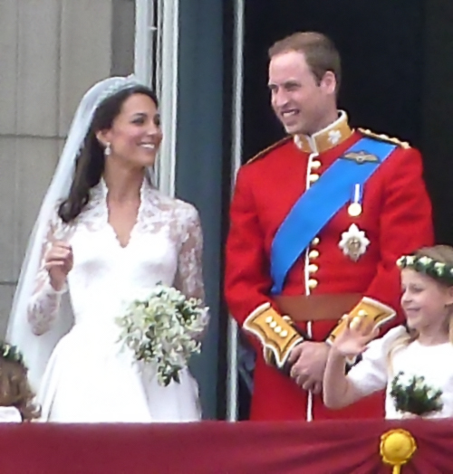 Princess Kate wedding photo on the balcony