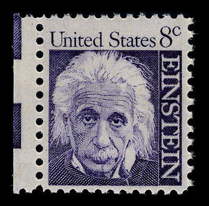 English: Albert Einstein on a 1966 US stamp