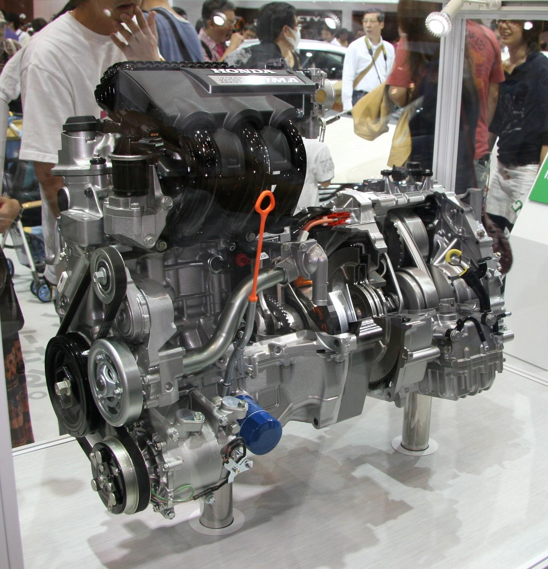 hight resolution of second generation honda insight ima powertrain engine motor and transmission
