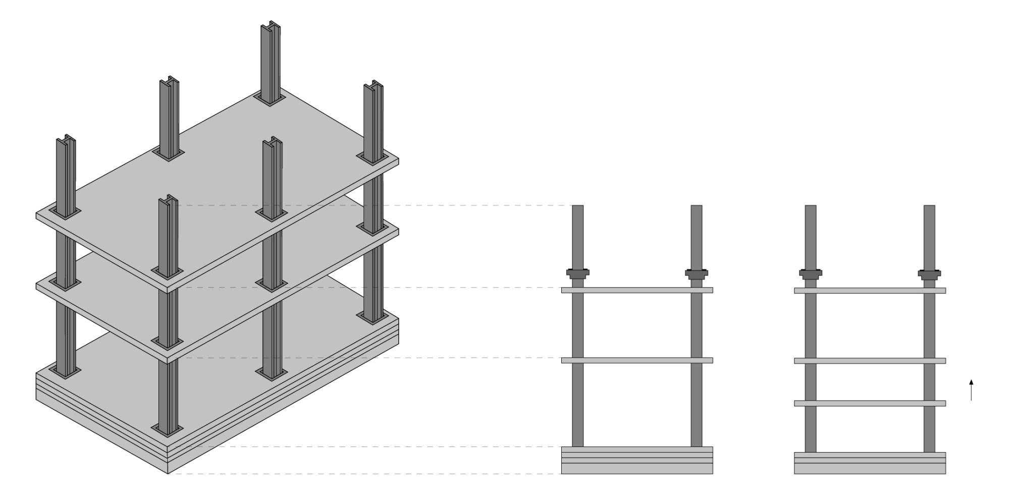 hight resolution of lift slab construction