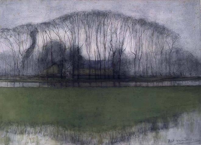 File:Mondriaan - Bomenrij in drassig landschap, bij Duivendrecht.jpg