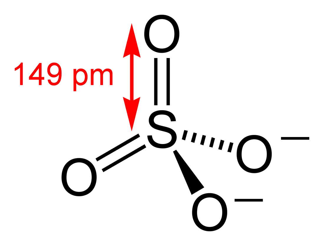 hight resolution of sulfate