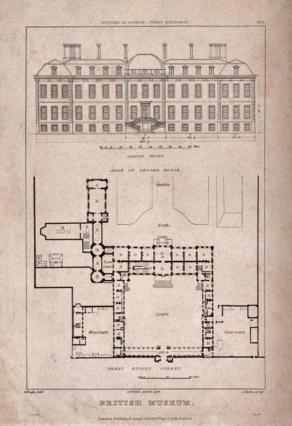 File British Museum Montague House; Layout Plan