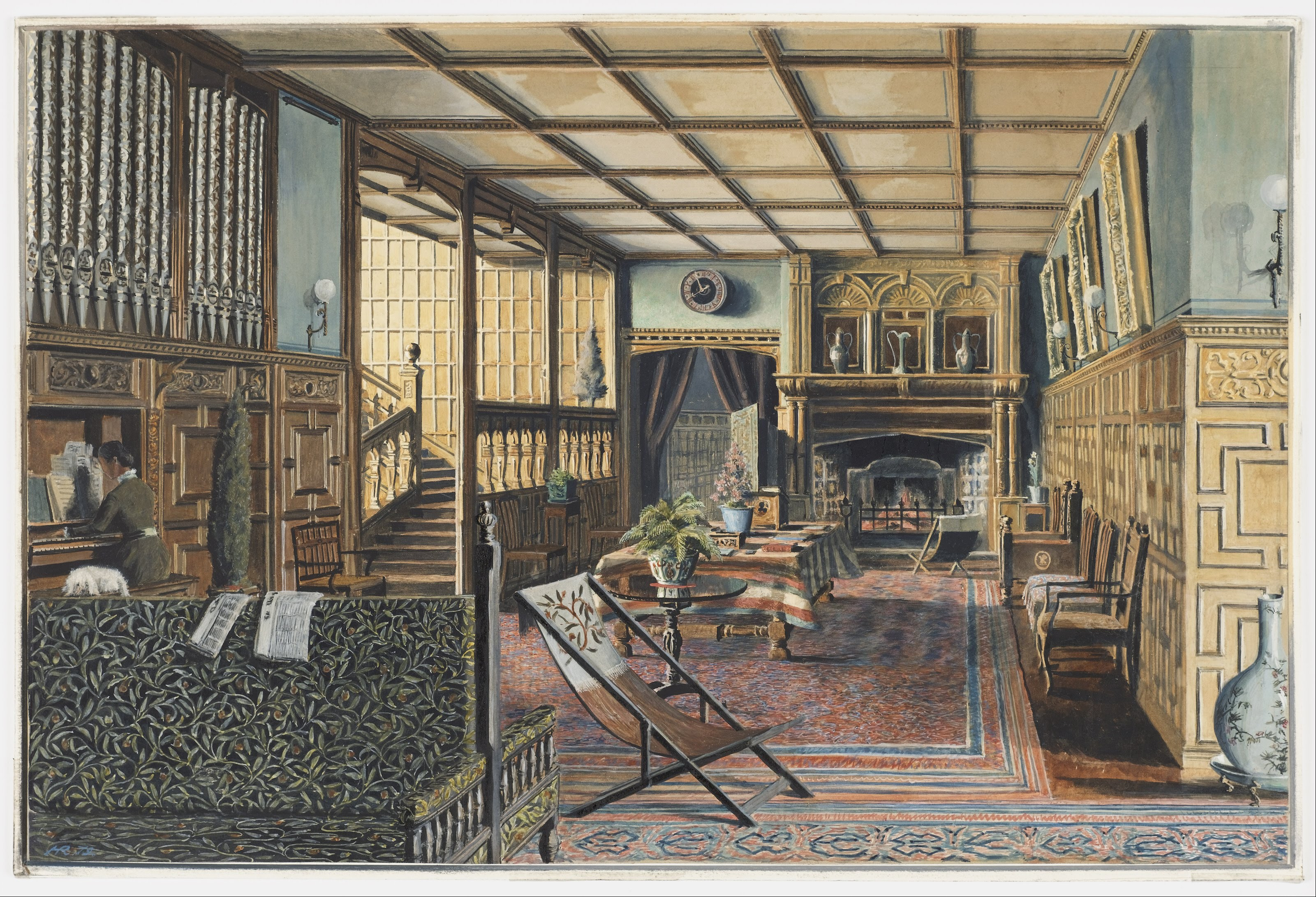 FileHenry Robert Robertson The Interior Of Hall Place