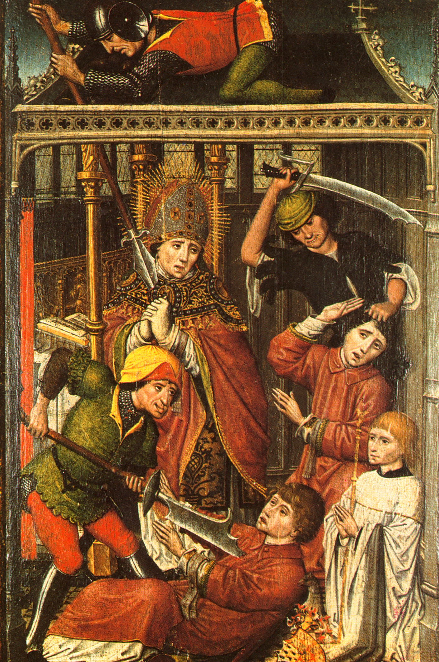 Martyrdom of St. Lambert (in the Bishops mitre); taken from Wikipedia